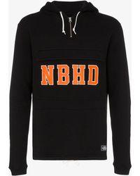b989470c Neighborhood Embroidered Logo Crewneck Sweatshirt in Black for Men - Lyst