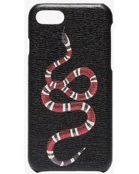 Gucci - Black Snake Print Iphone 8 Case - Lyst