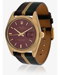 La Californienne - Nova Galaxie Rolex Oyster Perpetual Date 14k Solid Gold Watch 34mm - Lyst