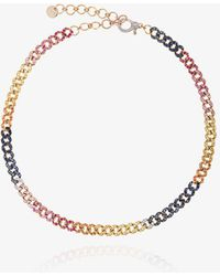 SHAY - Rainbow Mini Pave Link Choker - Lyst