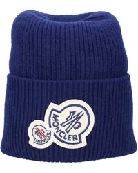 Moncler Beanie Berretto Lana Logo Red for Men Lyst