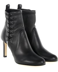 Jimmy Choo - Ankle Boots Mallory 85 Calfskin Smooth Leather Black - Lyst