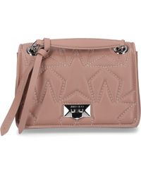 77b7b7f217b7 Jimmy Choo - Women Handbag Helia Nappa Leather Stars Embossment Logo  Knitting Dark Rosé - Lyst