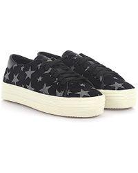 Saint Laurent - Sneaker Sl/39 Suede Black Stars Silver - Lyst