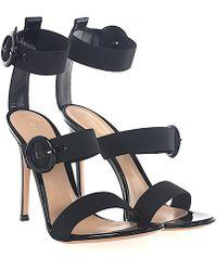 Gianvito Rossi Sandals RYA patent leather stretch x6o3EbbLX