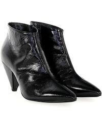 Giampaolo Viozzi - Ankle Boots Patent Leather Black - Lyst