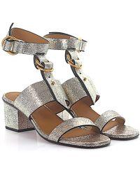 Open shoes calfskin Embossing gold Chloé Kg3jhCnLM