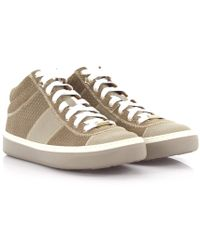 Jimmy Choo - Trainers Bells Mid Cut Suede Leather Grey Triangle Embossed - Lyst