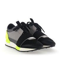 Balenciaga Sneaker RACE RUNNER calfskin mesh textile multicoloured xBPuUl
