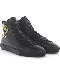 Gucci - Trainer High Leather Black Bengal-print - Lyst