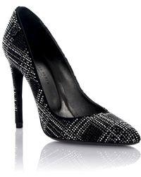 Philipp Plein - Court Shoes Scottish Diamond Leather Black Stoff Strass - Lyst