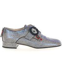 1a4cf02a990 Dior - Einfach-monk Gatsby Eidechsenleder Beige Blau Metallic  Schmuckverzierung - Lyst