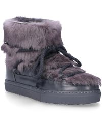 Inuikii - Ankle Boots Sneaker Rabbit Rabbit Fur Fur Upper Grey - Lyst