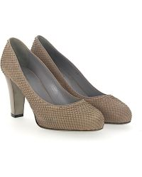 Platform Pumps calfskin Embossing grey Sergio Rossi Outlet With Mastercard Outlet Perfect MnJ6VlDUe