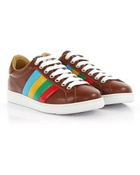 DSquared² - Sneakers Santa Monica Leather Brown Multicolour - Lyst
