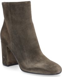 Gianvito Rossi - Ankle Boots Rolling 85 Suede Olive - Lyst