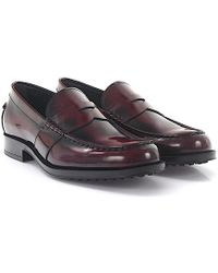 Tod's - Loafer D0k130 Leather Bordeaux Polished - Lyst