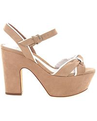 61b73007230 Lyst - Sergio Rossi Puzzle Wedge in Natural