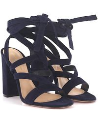 Gianvito Rossi - High Heel Sandals Janis Suede Blue - Lyst