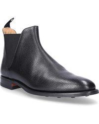 Crockett and Jones - Chelsea Boots CHELSEA 8 SCOTCH Glattleder Kalbsleder Scotchgrain schwarz - Lyst
