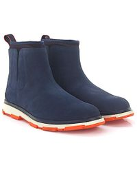 Swims - Ankle Boots Storm Nubuck Leather Blue - Lyst