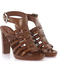 Gianvito Rossi - High Heels Calfskin Smooth Leather Brown - Lyst