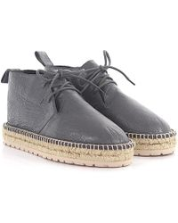 Balenciaga - Boots Arena Leather Grey Crinkled Bast - Lyst