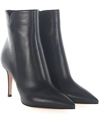 Gianvito Rossi - Boots Levy 85 Nappa Leather Black - Lyst