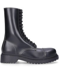 eca32fc64823 Lyst - Balenciaga Lace-up Leather Boots in Black for Men