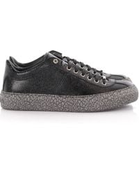 Jimmy Choo | Trainers Portman Leather Black Embossed | Lyst