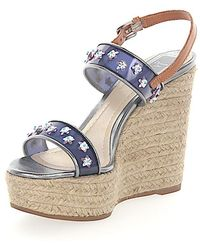 Dior Wedge Sandals JOY Nylongaze woven jewellery ornament aXIDm502
