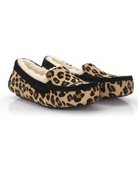 80917441d7a UGG - Moccasins Calfskin Pony Leather Suede Lion Print Black Leopard - Lyst