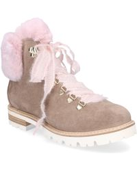 Agl Attilio Giusti Leombruni - Ankle Boots D716548 Rabbit Fur Suede Fur Upper Rose Taupe - Lyst