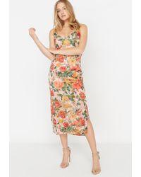 Buffalo David Bitton - Exquisite Burnout Velvet Floral Print Midi Dress - Lyst