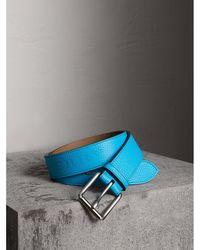 Burberry - Embossed Grainy Leather Belt - Lyst