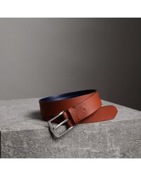 Burberry - Grainy Leather Belt - Lyst