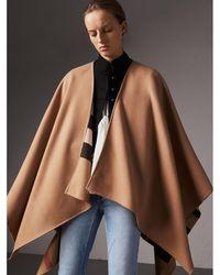 Burberry - Reversible Check Merino Wool Poncho - Lyst