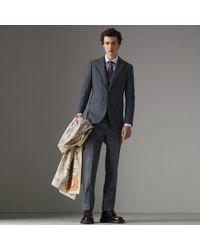 Burberry - Soho Fit Linen Wool Three-piece Suit - Lyst