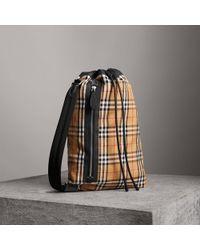 Burberry - Medium Vintage Check Cotton Duffle Bag - Lyst