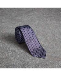 Burberry - Slim Cut Daisy Silk Jacquard Tie - Lyst