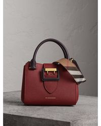 bc195c8b98b8 Lyst - Burberry The Small Orchard in Signature Grain Leather in Blue