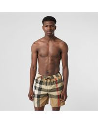 Burberry - Exploded Check Swim Shorts - Lyst