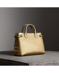 Burberry - The Medium Banner Leather Tote - Lyst