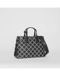 5f7573068865 Burberry The Medium Banner In Brogue Detail Leather in Black - Lyst
