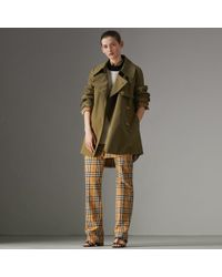 Burberry - Exaggerated Collar Cotton Gabardine Trench Coat - Lyst