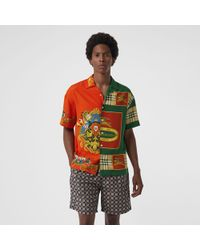 Burberry - Archive Logo And Vintage Check Drawcord Swim Shorts - Lyst