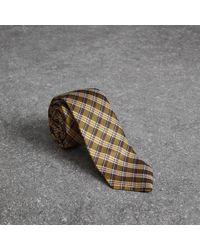 Burberry - Slim Cut Check Silk Jacquard Tie - Lyst