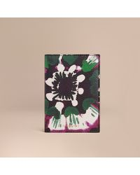 Burberry Sport - Tie-dye Print Grainy Leather Passport Cover - Lyst