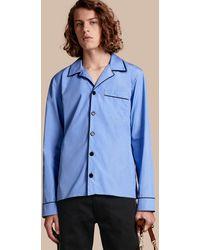 Burberry - Cotton Poplin Pyjama-style Shirt - Lyst