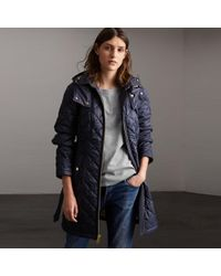 Burberry - Detachable Hood Quilted Showerproof Parka - Lyst